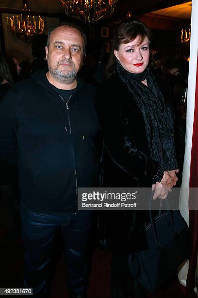 Actress Catherine Jacob and Guest attend the Fouquet's Paris Restaurant presents its Menu 'Twisted' by the Chef Pierre Gagnaire Held at Le Fouquet's...