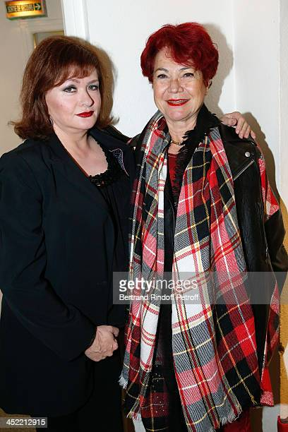 Actress Catherine Jacob and Producer Pascale Breugnot attend 'Vivement Dimanche' French TV Show at Pavillon Gabriel on November 26 2013 in Paris...