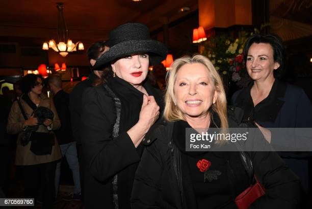 Actress Catherine Jacob and Veronique Sanson attend 'La Closerie Des Lilas' Literary Awards 2016 At La Closerie Des Lilas on April 19 2017 in Paris...