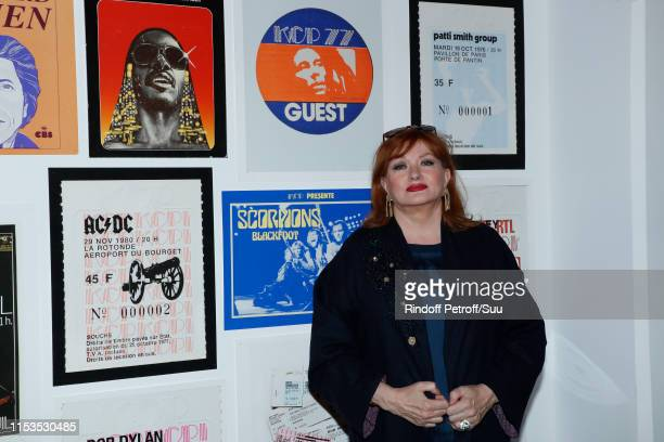 Actress Catherine Jacob attends Albert Koski exposes its RockRoll Posters Collection at Galerie Laurent Godin on June 03 2019 in Paris France