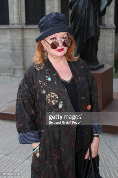 """Actress Catherine Jacob attends the """"Il Medico Della Peste"""" Franck Sorbier Haute Couture Pieces Uniques AW 2020/21 Maitre d'art Collection :..."""