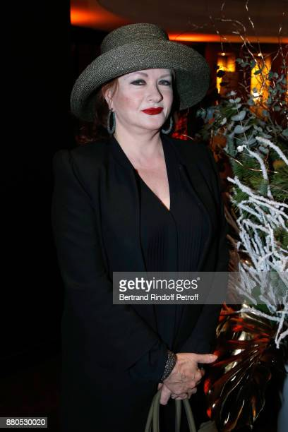 Actress Catherine Jacob attends the Inauguration of the 'Chalet Les Neiges 1850' on the terrace of the Hotel 'Barriere Le Fouquet's Paris' on...