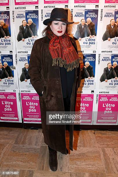 Actress Catherine Jacob attends the 'L'Etre ou pas' Theater play at Theatre Antoine on March 21 2016 in Paris France