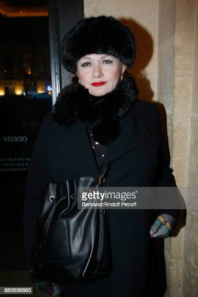 Actress Catherine Jacob attends the Tribute to Actress Jeanne Moreau at Odeon Theatre on December 4 2017 in Paris France