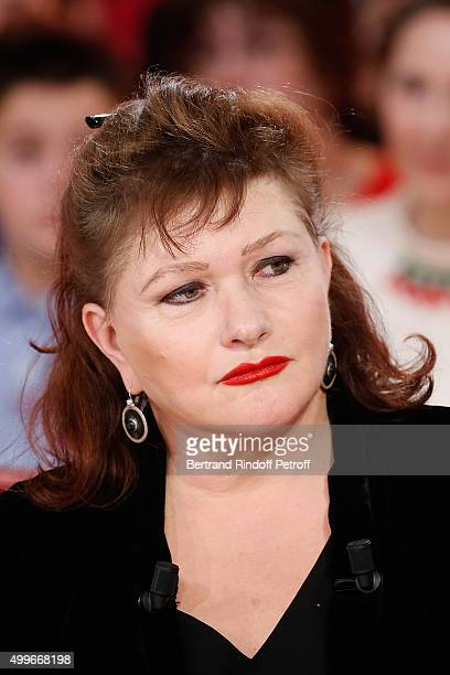 Actress Catherine Jacob presents her Theater Play 'Madame' during 'Vivement Dimanche' French TV Show at Pavillon Gabriel on December 2 2015 in Paris...
