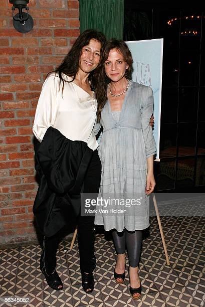 Actress Catherine Keener and Director/ Writer Libby Spears attends the Playground screening gala at The Bowery Hotel on May 1 2009 in New York City
