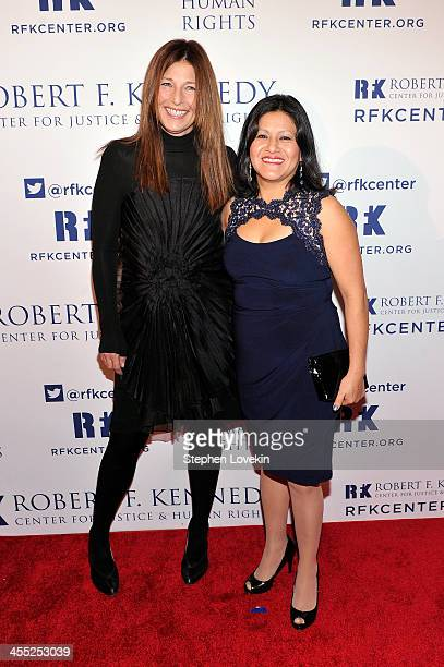 Actress Catherine Keener and Librada Paz attend Robert F Kennedy Center For Justice And Human Rights 2013 Ripple Of Hope Awards Dinner at New York...