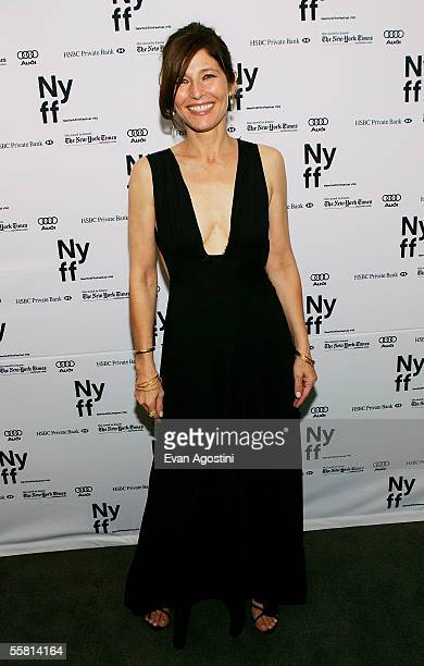 Actress Catherine Keener attends the New York Film Festival premiere of Capote at Alice Tully Hall September 27 2005 in New York City