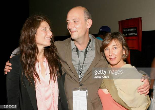 """Actress Catherine Keener, director Thomas Napper and producer Agi Orsi attend the """"Lost Angels"""" Q&A during the 2010 Los Angeles Film Festival at..."""