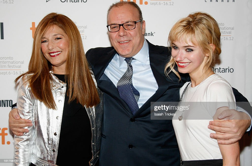Actress Catherine Keener, director Yaron Zilberman and actress Imogen Poots attend the 'A Late Quartet' Premiere at the 2012 Toronto International Film Festival at The Elgin on September 10, 2012 in Toronto, Canada.