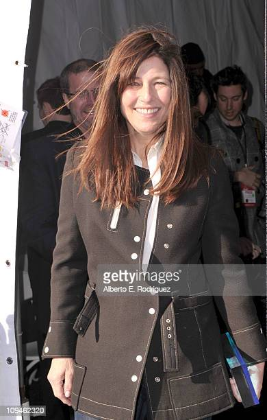 Actress Catherine Keener winner of the Robert Altman award for 'Please Give' attends the 2011 Film Independent Spirit Awards at Santa Monica Beach on...