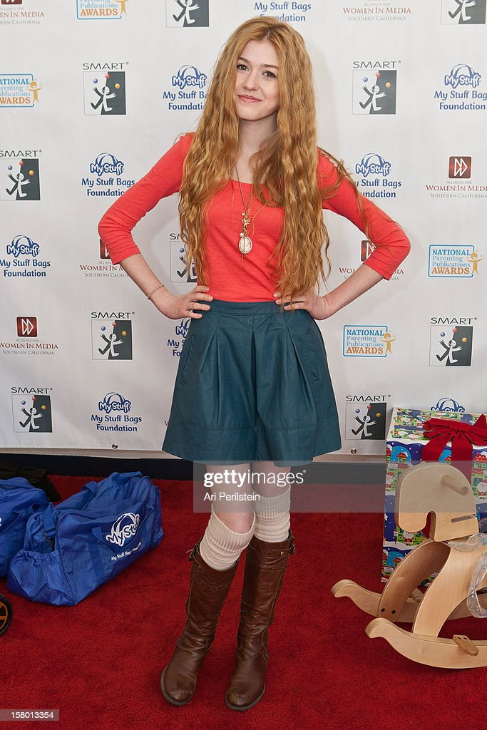 Actress Catherine MacNamara attends 'Kids Helping Kids' - A Celebrity Holiday Stuff-A-Thon Benefiting My Stuff Bags Foundation at CBS Studios - Radford on December 8, 2012 in Studio City, California.
