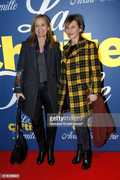 Actress Catherine Marchal and Actress Sophie Mounicot attend the 'La Ch'tite Famille' Paris Premiere at Cinema Gaumont Marignan on February 14 2018...