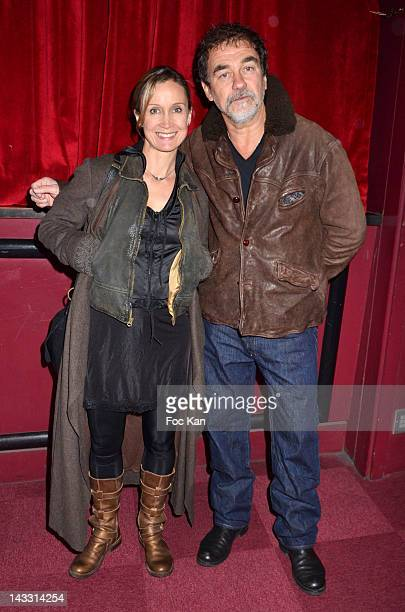 Actress Catherine Marchal and her husband director Olivier Marchal attend the Vincent Moscato 'One Man Chaud' Generale at L'Olympia on April 23 2012...