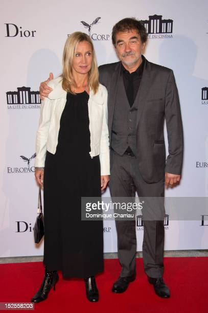 Actress Catherine Marchal and her husband director Olivier Marchal attend 'La Cite Du Cinema' Launch on September 21 2012 in SaintDenis France