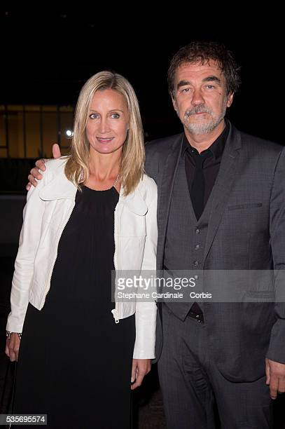 Actress Catherine Marchal and her husband director Olivier Marchal attend La Cite Du Cinema Launch in SaintDenis