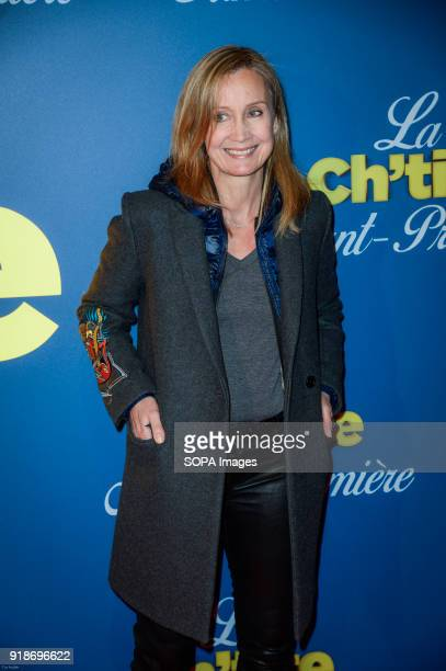 Actress Catherine Marchal at the premiere La Ch tite Famille at the cinema Gaumont Capucines in Paris