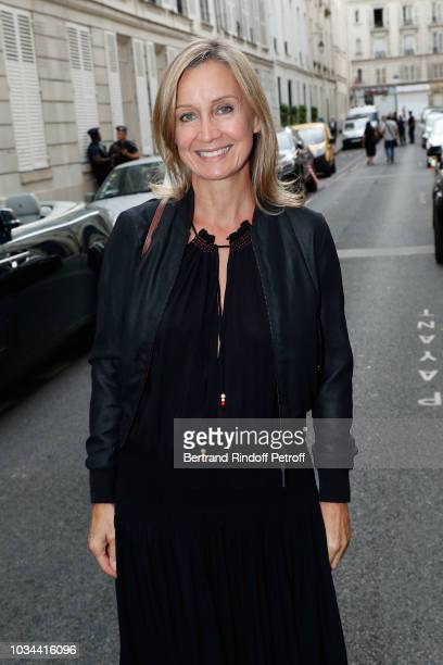 Actress Catherine Marchal attends Marek Halter celebration of Rosh Hashanah on September 16 2018 in Paris France