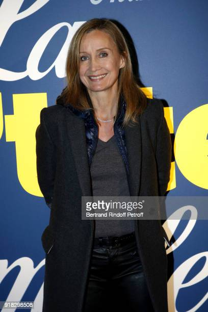 Actress Catherine Marchal attends the 'La Ch'tite Famille' Paris Premiere at Cinema Gaumont Marignan on February 14 2018 in Paris France