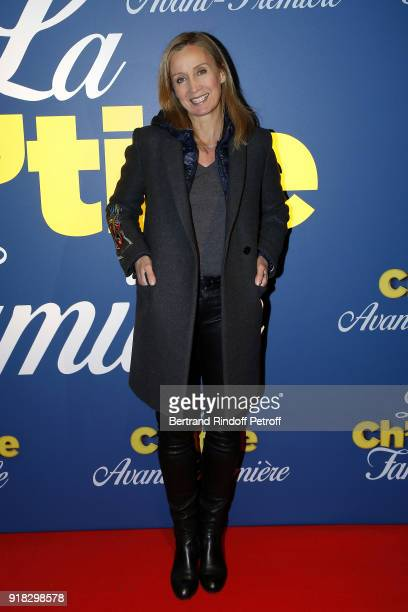 Actress Catherine Marchal attends the La Ch'tite Famille Paris Premiere at Cinema Gaumont Marignan on February 14 2018 in Paris France