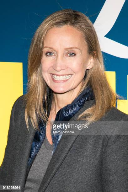 Actress Catherine Marchal attends the 'La Ch'tite Famille' Premiere at Cinema Gaumont Marignan on February 14 2018 in Paris France