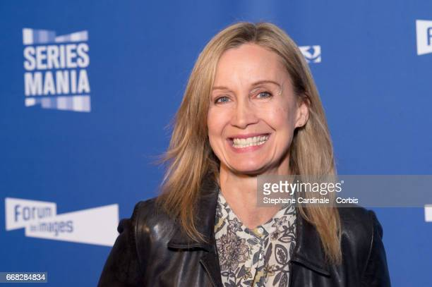 Actress Catherine Marchal attends the 'Series Mania Festival' opening night at Le Grand Rex on April 13 2017 in Paris France