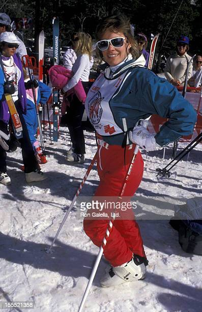 Actress Catherine Mary Stewart attends First Annual Steve Kanaly Celebrity Ski Invitation Benefiting the March of Dimes on February 7 1988 at Mt High...