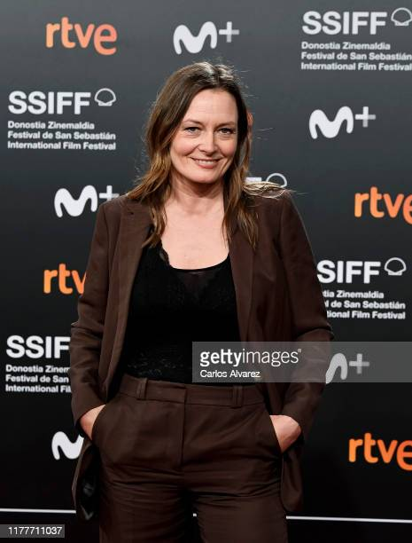 Actress Catherine McCormack attends the red carpet on the closure day of 67th San Sebastian International Film Festival on September 28 2019 in San...