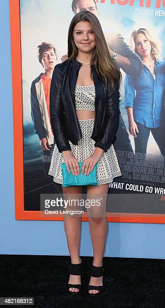 Actress Catherine Missal attends the premiere of Warner Bros Vacation at the Regency Village Theatre on July 27 2015 in Westwood California