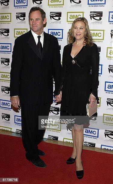 Actress Catherine O'Hara and husband Bo Welch arrive at the 19th American Cinematheque Awards to honor Steve Martin at the Beverly Hilton Hotel on...