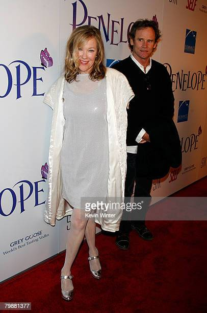 Actress Catherine O'Hara and husband Bo Welch arrive at the premiere of Summit Entertainment's Penelope held at the Director's Guild of America on...