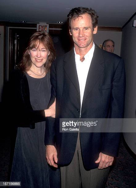 Actress Catherine O'Hara and husband Bo Welch attend the 21st Annual Los Angeles Film Critics Association Awards on January 17 1996 at Bel Age Hotel...