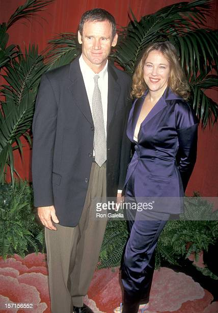 Actress Catherine O'Hara and husband Bo Welch attend the 69th Annual Academy Awards Nominees Luncheon on March 11 1997 at Beverly Hilton Hotel in...