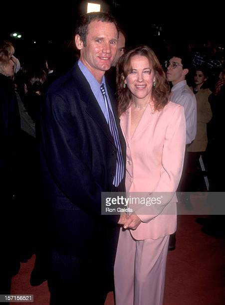 Actress Catherine O'Hara and husband Bo Welch attend The Birdcage Westwood Premiere on March 5 1996 at Mann Village Theatre in Westwood California
