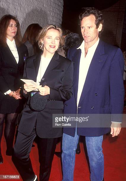 Actress Catherine O'Hara and husband Bo Welch attend the Dave Westwood Premiere on May 4 1993 at Mann National Theatre in Westwood California