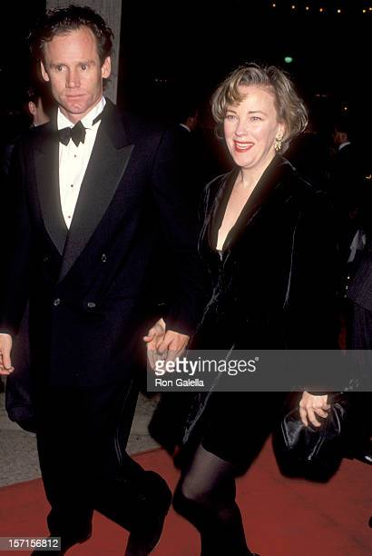 Actress Catherine O'Hara and husband Bo Welch attend the Grand Canyon Century City Premiere on December 15 1991 at Cineplex Odoen Century Plaza...