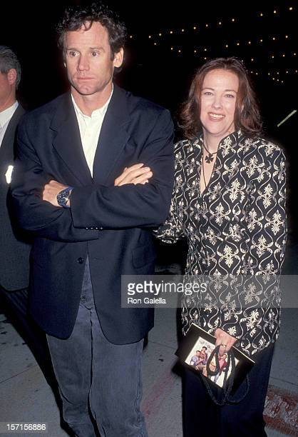 Actress Catherine O'Hara and husband Bo Welch attend The Paper Century City Premiere on March 16 1994 at Cineplex Odeon Century Plaza Cinemas in...