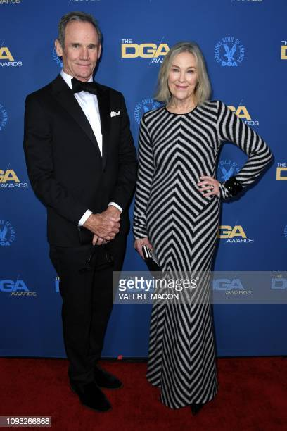Actress Catherine O'Hara and husband production designer Bo Welch arrive for the 71st Annual Directors Guild Of America Awards at the Ray Dolby...
