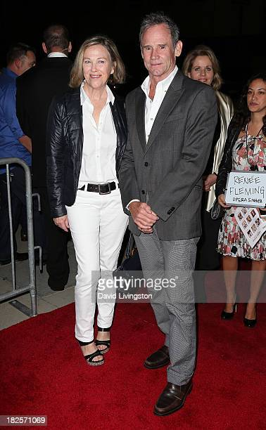 Actress Catherine O'Hara and husband production designer Bo Welsh attend the premiere of Columbia Pictures' Captain Phillips at the Academy of Motion...