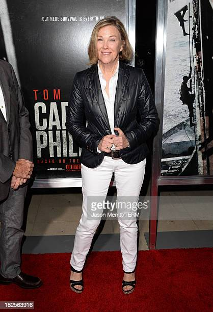Actress Catherine O'Hara attends the premiere of Columbia Pictures' Captain Phillips at the Academy of Motion Picture Arts and Sciences on September...