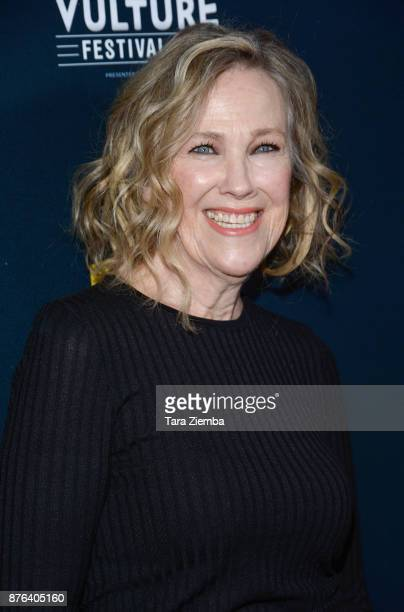 Actress Catherine O'Hara attends the 'Schitt's Creek' panel during Vulture Festival Los Angeles at Hollywood Roosevelt Hotel on November 19 2017 in...