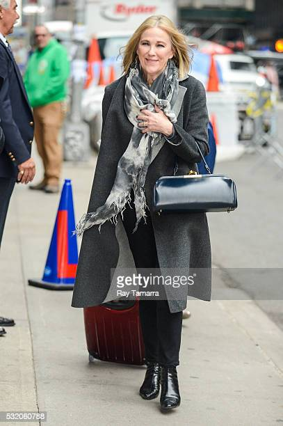 Actress Catherine O'Hara enters 'The Late Show With Stephen Colbert' taping at the Ed Sullivan Theater on May 17 2016 in New York City