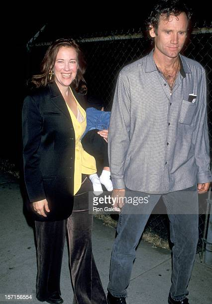 Actress Catherine O'Hara husband Bo Welch and son Dylan Welch attend Tim Burton's Art Exhibition on October 29 1994 at the Garage Gallery in West...