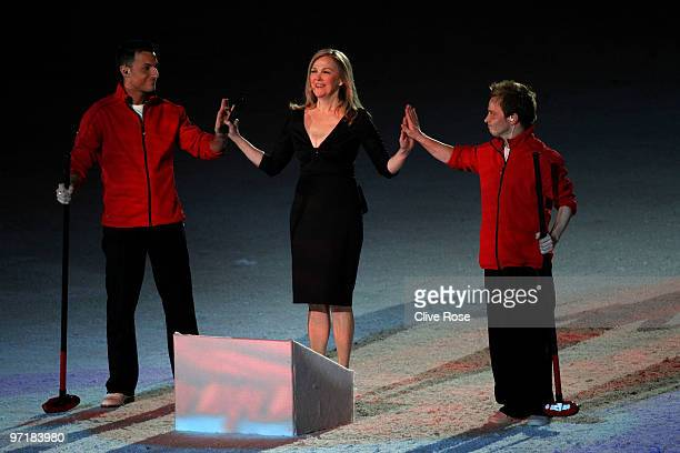 Actress Catherine O'Hara performs during the Closing Ceremony of the Vancouver 2010 Winter Olympics at BC Place on February 28 2010 in Vancouver...