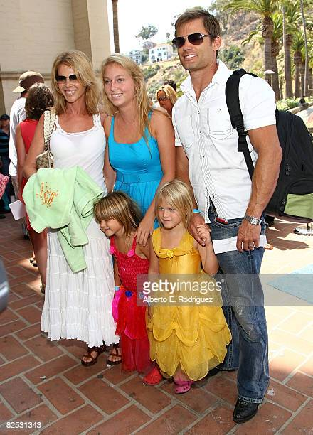 Actress Catherine Oxenberg actor Casper Van Dien and family arrive at the DVD launch of Walt Disney's 'Little Mermaid Ariel's Begining held at the...
