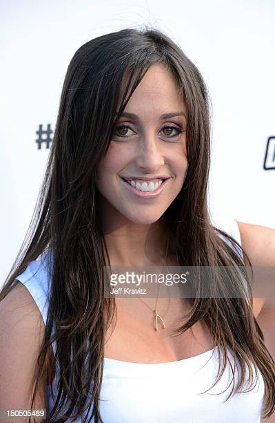Actress Catherine Reitman arrives at DoSomethingorg and VH1's 2012 Do Something Awards at Barker Hangar on August 19 2012 in Santa Monica California
