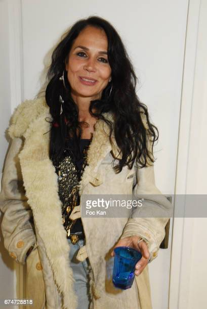 Actress Catherine Wilkening attends Gabrielle Lazure 'Sixteen' Birthday Party at Galerie 18 Bis on April 28 2017 in Paris France