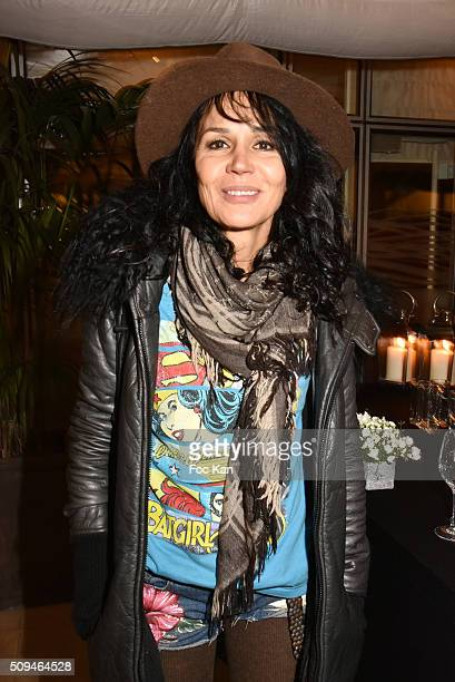Actress Catherine Wilkening attends 'Harmonie' Lee Michel Exhibition Preview at Hotel Mariott on February 10 2016 in Paris France