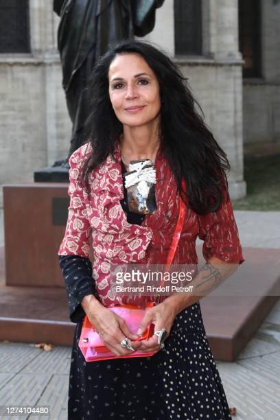 "Actress Catherine Wilkening attends the ""Il Medico Della Peste"" Franck Sorbier Haute Couture Pieces Uniques AW 2020/21 Maitre d'art Collection :..."