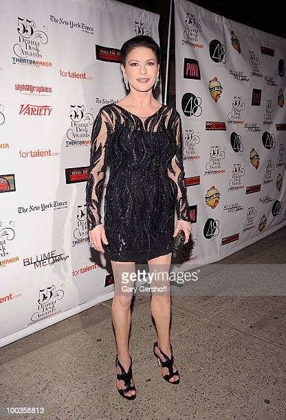 Actress Catherine Zeta Jones arrives at the 55th Annual Drama Desk Awards at the FH LaGuardia Concert Hall at Lincoln Center on May 23 2010 in New...